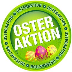 """Button """"Osteraktion"""" Ostereier grün"""