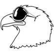 Adler Sonnenbrille Cool Vogel witzig