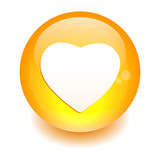 bouton internet coeur sign icon orange