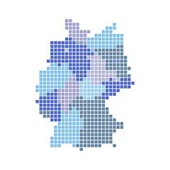 Deutschlandkarte mit Bundesländern