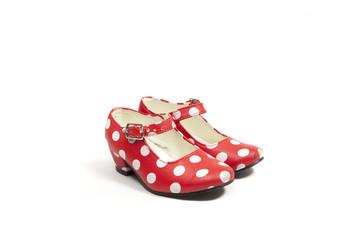 two flamenco shoes.