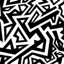 monochrome, seamless aztèque