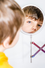 boy in mirror