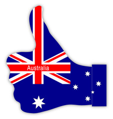 Australien Daumen hoch, Australia thumbs up