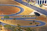 Road infrastructure in Brasilia, the capital of Brazil. poster