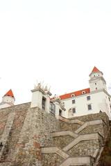 Treppe zur Burg von Bratislava in der Slowakei