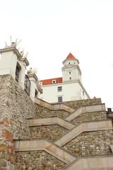 Aufgang zur Bratislavaer Burg in der Slowakei