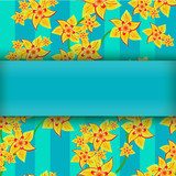 yellow flowers on abstract background