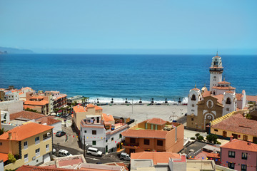 View of the city of Candelaria.Tenerife. Spain