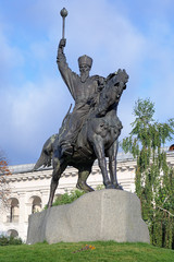Monument of Petro Sahaidachny in Kiev, Ukraine