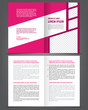 Vector empty bifold brochure print template violet design