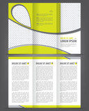 Trifold beauty brochure print template design poster