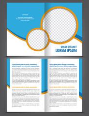 Vector empty bifold brochure print template design