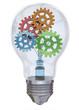 Light Bulb and Gear - 3D