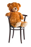 teddy bear sitting on a chair