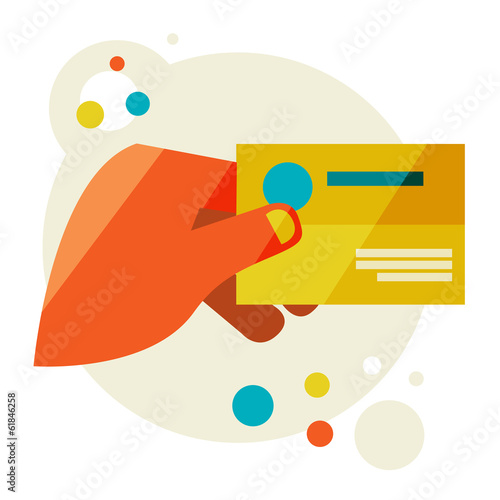 Hand hol Flat design modern vector illustration stylish colors
