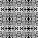 Design seamless uncolored swirl movement pattern. Abstract decor