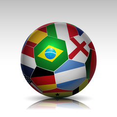 world flags soccer ball