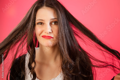 canvas print picture haare