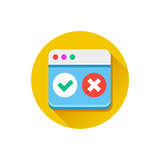Vector Browser Accept Decline Icon