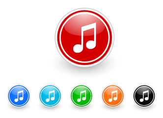 music vector icon set