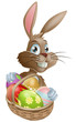 Chocolate eggs Easter bunny