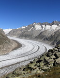 Aletsch glacier viewed from Bettmeralp, Switzerland