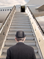 businessman before boarding