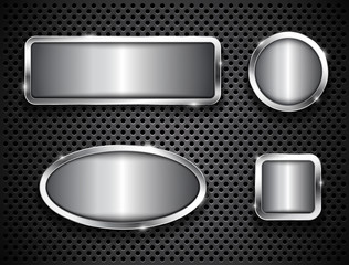 Metallic buttons