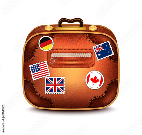 Suitcase With Stamps