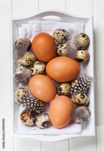 Easter still life with eggs