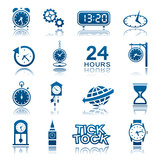 Clocks and watches icon set