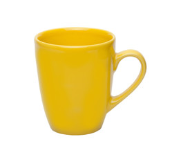 yellow cup isolated