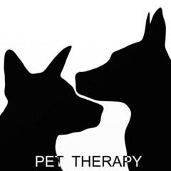 sfondo con due sagome di cane