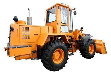 Modern yellow tractor