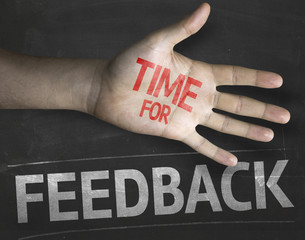 Educational composition with the message Time for Feedback