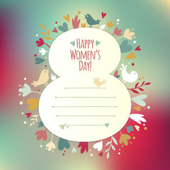 Beautiful instagram card for Women's Day
