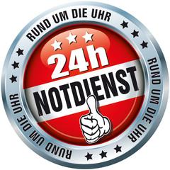 24h Notdienst - Rund um die Uhr - Button