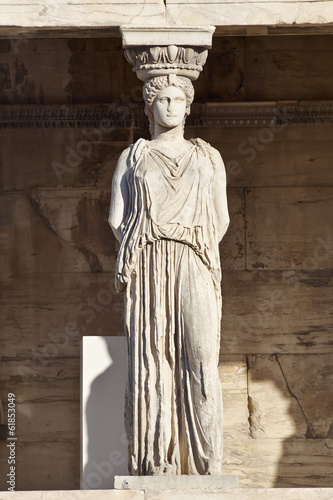Foto op Canvas Athene Caryatid ancient statue, erechteion temple, Athens Greece
