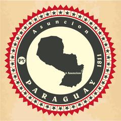 Vintage label-sticker cards of Paraguay.