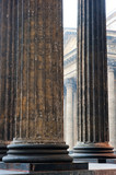 Vertical shot colonnade of the Kazan Cathedral