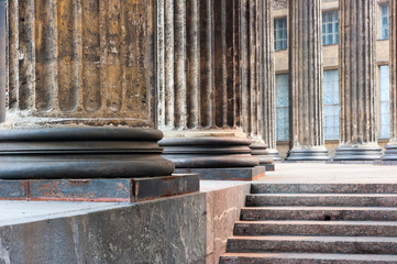 lower part of the columns of the Kazan Cathedral in St. Petersbu