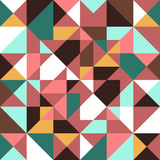 Retro seamless pattern geometric shapes