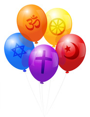 Balloons World Religions