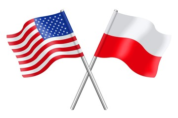 Flags: United States and Poland