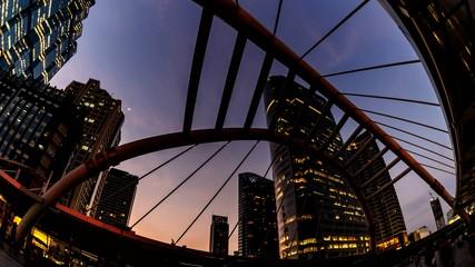 4K Timelapse cityscape bangkok metropolis at twilight.