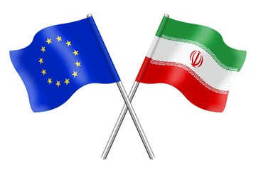 Flags : duet Europe and Iran