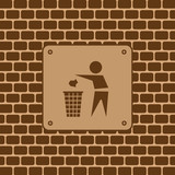 Vector garbage sign