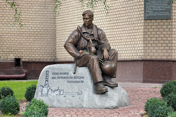 Monument of Firefighters in Kiev, Ukraine