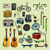 hipster retro style objects